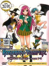 ANIME DVD ROSARIO VAMPIRE Sea 1&2 Vol.1-26 End Region All English Dubbed