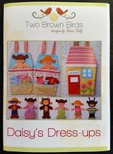 DAISY'S DRESS UPS DOLLS HOUSE SOFT TOY PATTERN TWO BROWN BIRDS