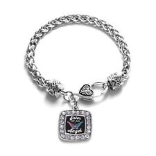 Inspired Silver Sister Of An Angel Classic Braided Charm Bracelet