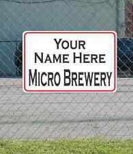Custom Name MICRO BREWERY Metal Sign for Garage Man Cave Home Bar Office