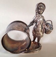 silver-plated Little Red Riding Hood napkin ring, Reed & Barton Circa 1885