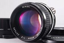 【MINT】 Nikon AI Nikkor 85mm F2 MF Lens w/ Hood from Japan #1470