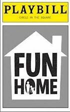 New Playbill Fun Home  Michael Cerveris Judy Kuhn  Beth Malone Sydney Lucas 2015