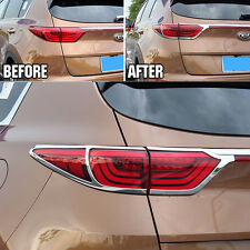 FIT FOR 2016-17 KIA SPORTAGE REAR CHROME TAILLIGHT LIGHT LAMP COVER TRIM MOLDING