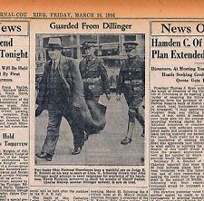 DILLINGER REPORT MARCH 16 1934 BYRD ANTARTIC PLANE CRASH SCHLOSSBACH NHJ PWD