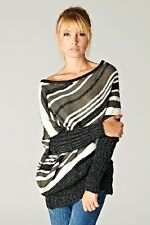 LoveStitchLA Asymetrical stripe tunic sweater in Small