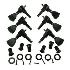 6pcs 3L3R Guitar Tuning Pegs Machine Head Tuners Black for LP Guitar replacement