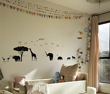 African Safari mural  vinyl wall decal