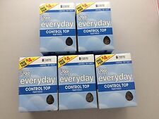 20 Total Pair L'eggs Everyday Control Top Pantyhose B Suntan Sheer Toe Sealed