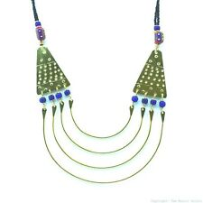 Maasai Market Handmade African Jewelry Masai Trade Bead Brass Necklace 115-19