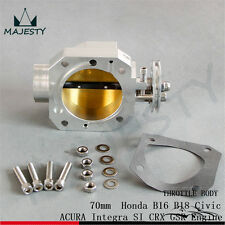 Aluminum 70mm Throttle Body Honda B16 B18 Civic ACURA Integra SI CRX GSR Engine