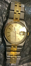 Rolex 14K/SS RARE 1630 36MM NON-QUICKSET Datejust 17013 Champagne Dial 1570 Cal.