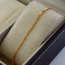 "18K Yellow Gold Filled Bracelet Chain 8.2""Link Women's GF Charm Fashion Jewelry"