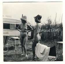 NUDE GIRLS' CAMPING / FRAUEN CAMPEN NACKT FKK * Vintage 50s SERGE JACQUES Photo