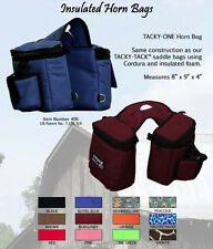 EQUI-TECH SUPER TOUGH FULLY INSULATED SADDLE HORN BAGS BROWN