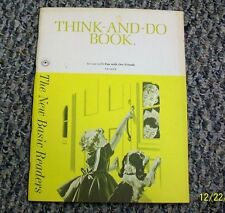 """$DJSAL 1962 DICK AND JANE *UNUSED* THINK-AND-DO WORKBOOK """"FUN WITH OUR FRIENDS"""""""