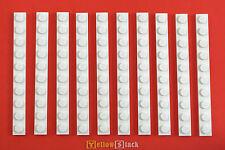 10x LEGO® 1x10 Platte 4477 weiß white plate 447701