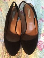 Dries Van Noten Ladies Slingback Black Suede Shoes-size 37
