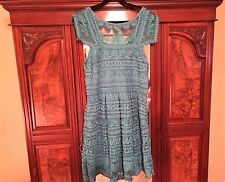 NWT Anthropologie Turquoise Light Dress By Yoana Baraschi Size 14 $298