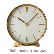 Junghans Electora Designer Tischuhr Messing 60er Jahe desk clock brass 60s