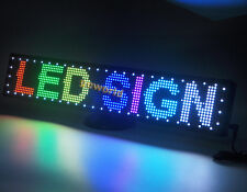 """RGB Desktop Programmable LED Message Sign Scroll Moving Display 24"""" board"""