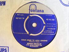 """DONNA DOUGLAS Come Home To Loch Lomond Ex Fontana UK 1959 7"""""""