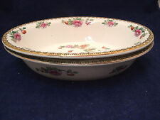 "F Winkle Whieldon Ware PHEASANT Smooth 2-10 1/4"" Oval Vegetable Bowls England"