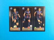 PANINI FIFA 365 - N.450-451-452 PASTORE LUCAS CAVANI - PARIS SAINT-GERMAIN