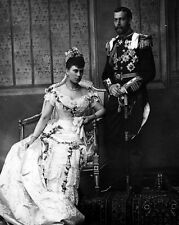 New 8x10 Photo: Wedding Portrait of Future King George V & Princess Mary of Teck