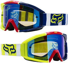 2017 FOX MAIN MOTOCROSS MX GOGGLES FALCON NEON YELLOW PINK BLUE tear-off mtb