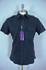 RALPH LAUREN PURPLE LABEL Tailored Fit Shirt NAVY LRG LARGE Made/Italy MSRP $325