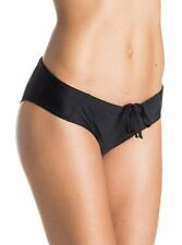 ROXY RALLY PANT BIKINI HIPSTER SWIM BOTTOMS LOW RISE TRUE BLACK SMALL NEW! $44