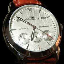 NEW MENS 20 JEWEL AUTOMATIC VAAN KONRAD CALENDARIUM WATCH, WHITE EXCESSION MODEL