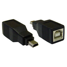 USB B Female to USB Mini-B 5 Pin Male Adapter  WC-30U1-08300
