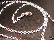 "925 SILVER 18"" PLAIN FINE 1.2mm ""O"" DAINTY CHAIN NECKLACE LOBSTER CLASP NEW"