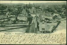Alte Postkarte,Hagenau-Gesamtansicht(Elsass)/gel.1904,mit Briefmarke