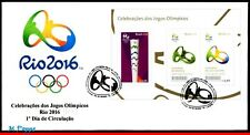 16-141F BRAZIL 2016 OLYMPIC GAMES, RIO 2016, TORCH, CEREMONYS, FDC OF S/S