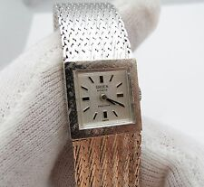 "GRUEN Precision,70's,17j Manual Wind,w/"" Mesh Fox Tail Band"",LADIES WATCH,526"