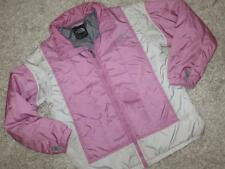 THE NORTH FACE Girls Kids Super Cute PINK & WHITE JACKET Coat Size L/G L Large