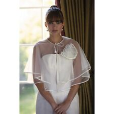 Joyce Jackson Dakota Ivory Chiffon Lace Wrap Bolero Wedding One Size RRP £85