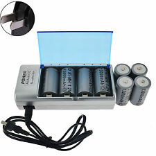 8x D size 13000mAh Rechargeable Battery Ni-MH 1.2V+ C/D AA Size Univeral Charger