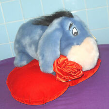 Disney rare parler bourriquet sur coussin coeur rouge jouet doux exploitation rose rouge 2002