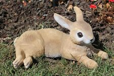 Laying Rabbit Outdoor Bunny Garden Statue Lawn Decor