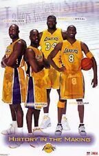 2003 Los Angeles Lakers Collage Orig.Starline Poster OOP Shaq Kobe Payton Malone