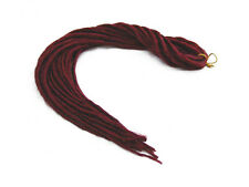 ELYSEE STAR DREADS #39 BURGUNDY RED DREADLOCKS DOUBLE ENDED SYNTHETIC DREAD