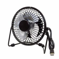 VENTILADOR PORTATIL USB + ADAPTADOR USB SOBREMESA METALICO MINI FAN PORTABLE