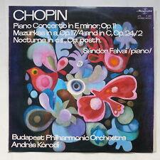 CHOPIN Piano concerto in E minor OP 11 SANDOR FALVAI Budapest orch ANDRAS KORODI
