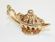 Large Vintage 9ct Gold Genie & The Lamp Charm 7.5 Grams