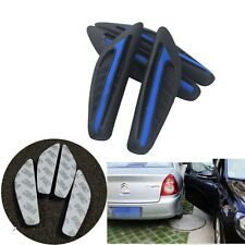 4 x Auto SUV Rear View Mirror Body Edge Blue Protector Scratches Anti-rub Strips