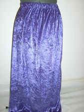 long maxi dark purple stretchy crushed velvet skirt bnwot plus size 22+ everyday